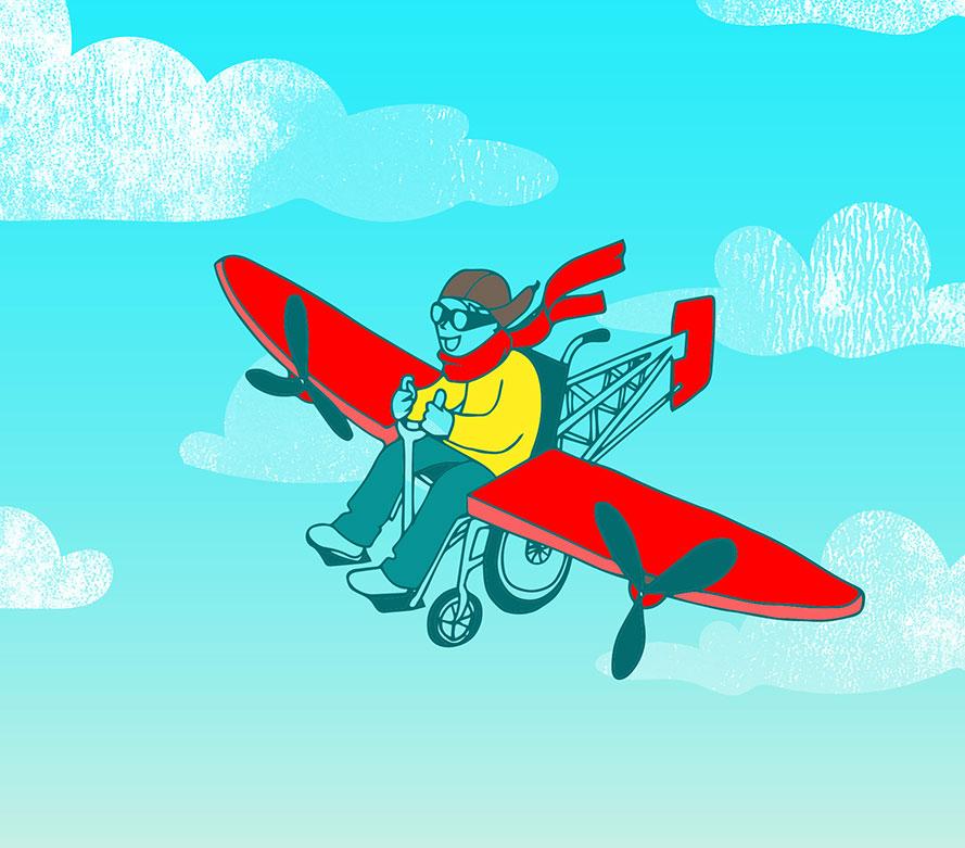 airplane illustration by Renske de Kinkelder