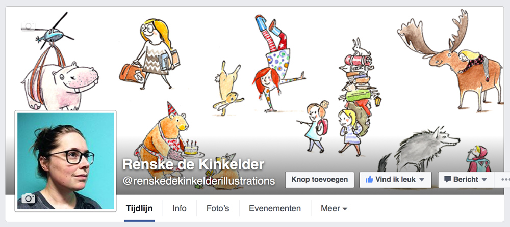 header of my facebookpage renskedekinkelderillustrations