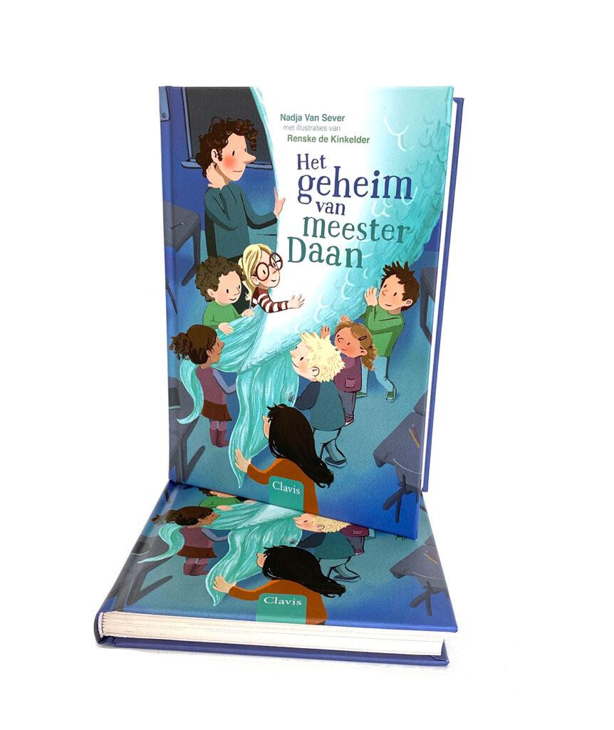 boekomslag Het geheim van Meester Daan, Clavis, illustratie Renske de Kinkelder