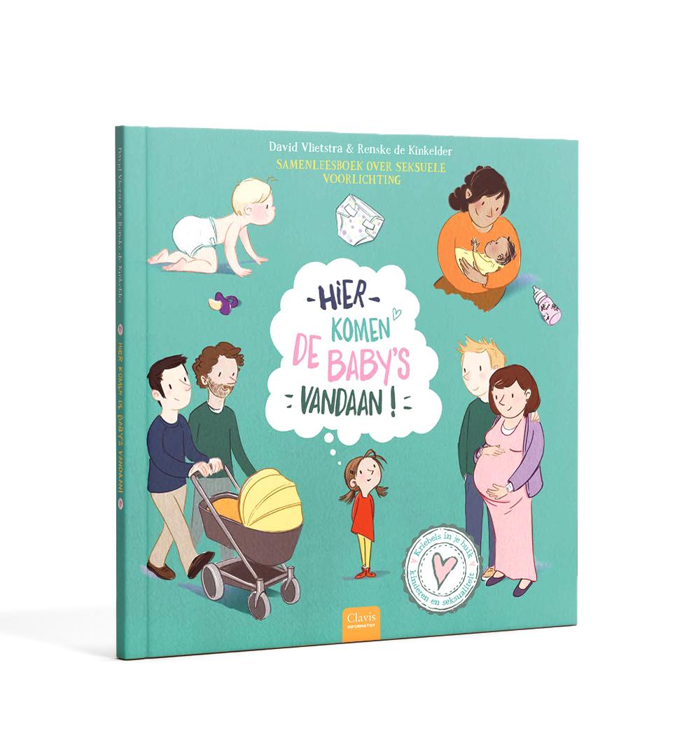 boek 'hier komen baby's vandaan' Clavis, illustraties Renske de Kinkelder
